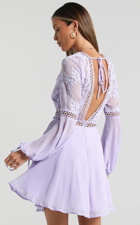 Stop Pretending dress in Lilac
