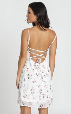 In The Era Dress In White Floral