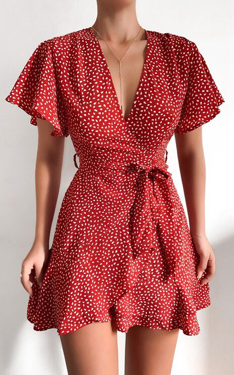 Constance Dress in Red Spot