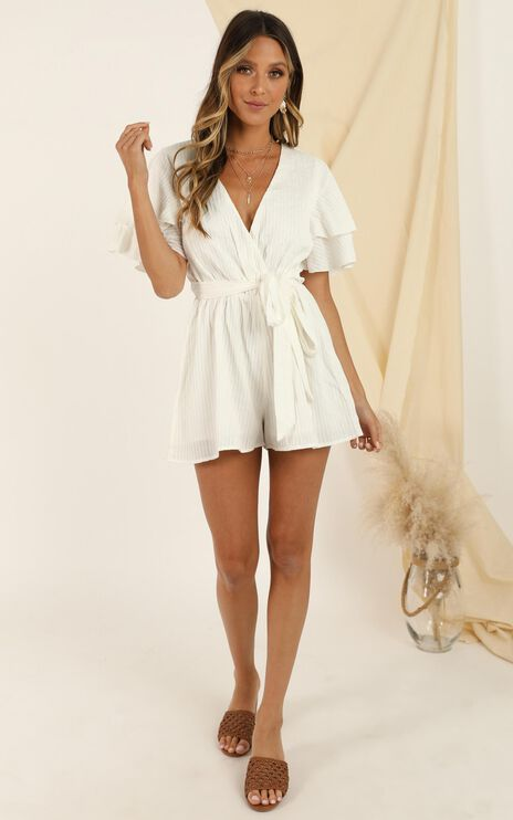 Run Away Girl Playsuit In White