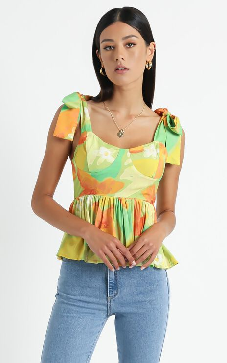 Rosalba Top in Tropical Floral