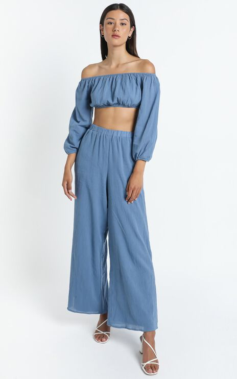 Citra Two Piece Set in Blue
