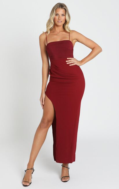 Mandy Maxi Dress in wine - 6 (XS), Wine, hi-res image number null