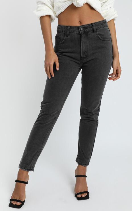 Remy Jeans In Washed Black Denim