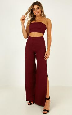 Im The One Two Piece Set In Wine