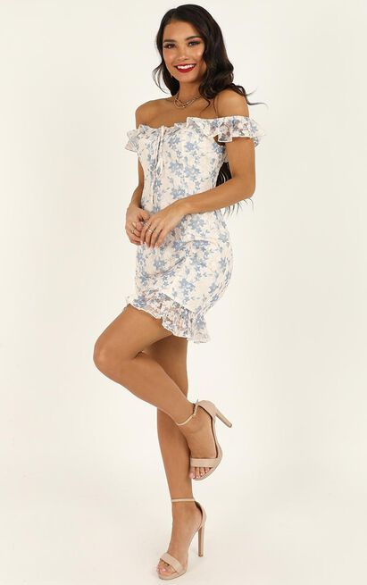 Happy Love Dress In white blue lace - 20 (XXXXL), Blue, hi-res image number null