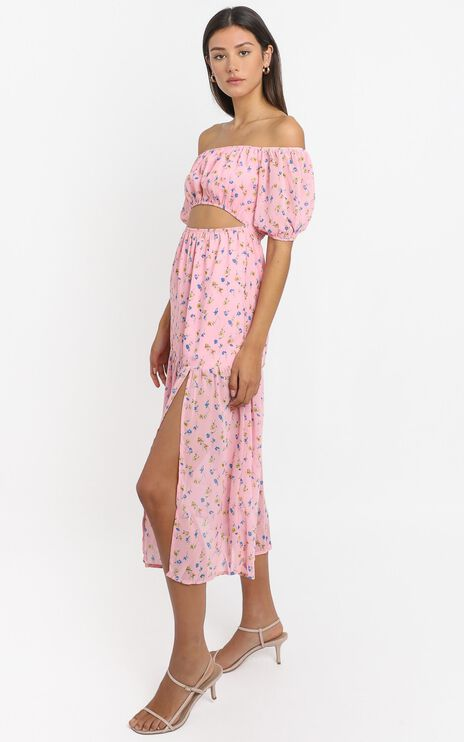 Saint Tropez Dress in Pink Floral