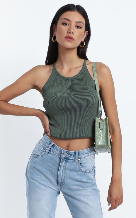 Sammy Top in Khaki
