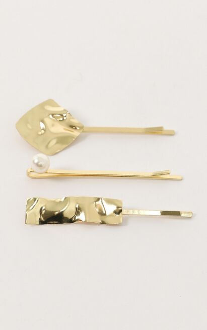 Like A Bird Hair Pin 3 Pack In Gold, , hi-res image number null