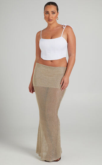 LIONESS - THE KENDALL SKIRT in Gold