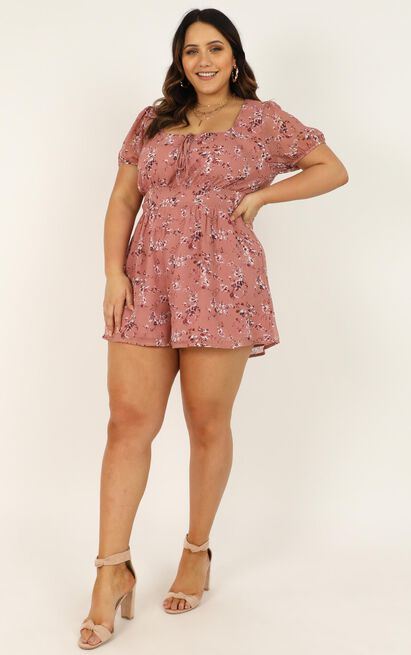 Biggest Fears Playsuit in rose floral - 20 (XXXXL), Blush, hi-res image number null