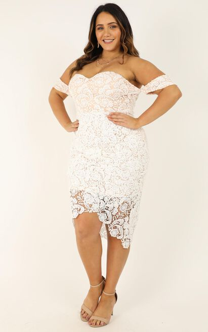 Try It Out Dress in white lace - 20 (XXXXL), White, hi-res image number null