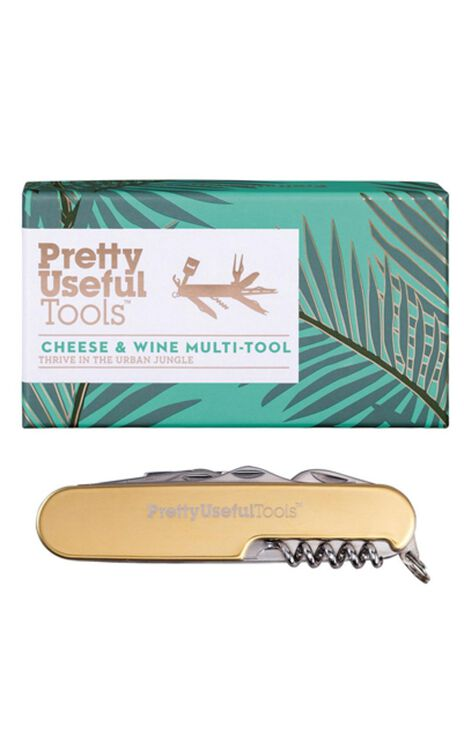 Pretty Useful Tools: Cheese & Wine Multi-Tool In Gold
