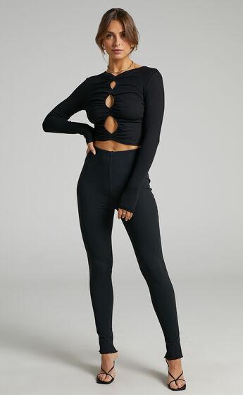 SNDYS - Renee Ribbed Pant in Black