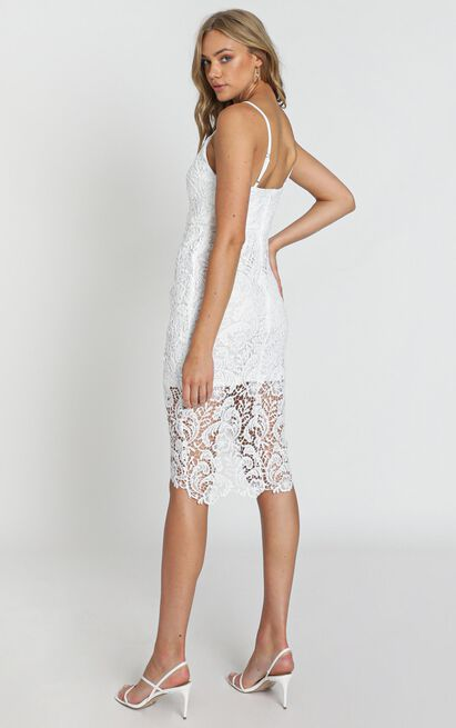 Typical Lover Dress In White Lace - 4 (XXS), White, hi-res image number null