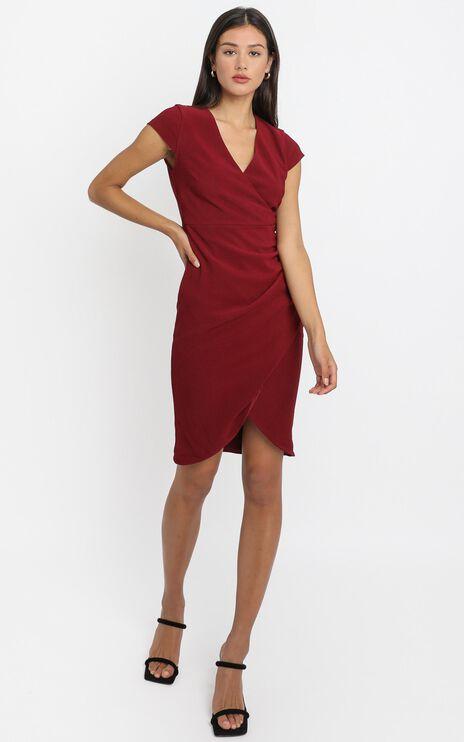 Quick Decider Dress in wine