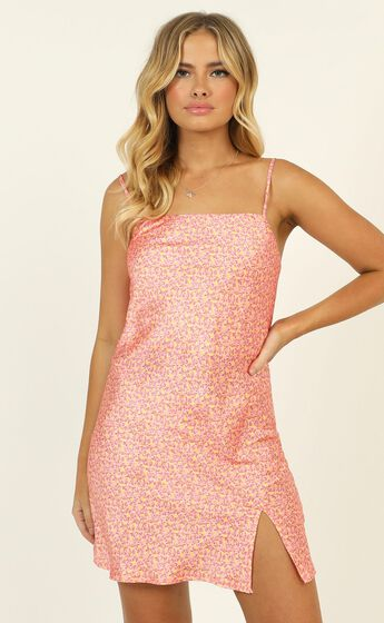 India Dress In Pink Micro Floral