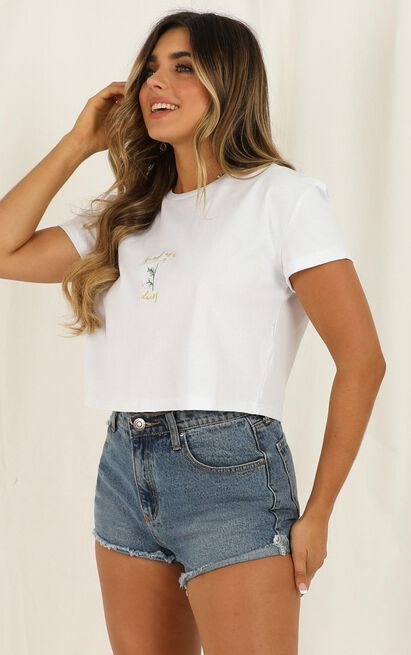 Fresh As A Daisy top in white - 12 (L), White, hi-res image number null