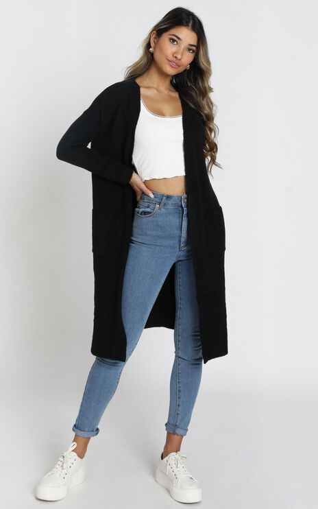 Around The Bend Cardigan In Black