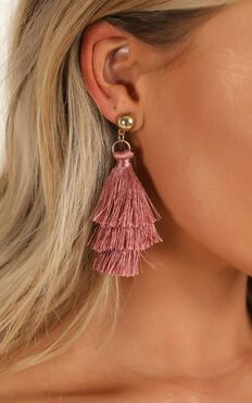 Surprise Yourself Earrings 6pc Set In Gold And Dusty Rose