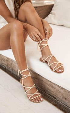 Showpo X Billini - Maui Sandals In Natural Rope