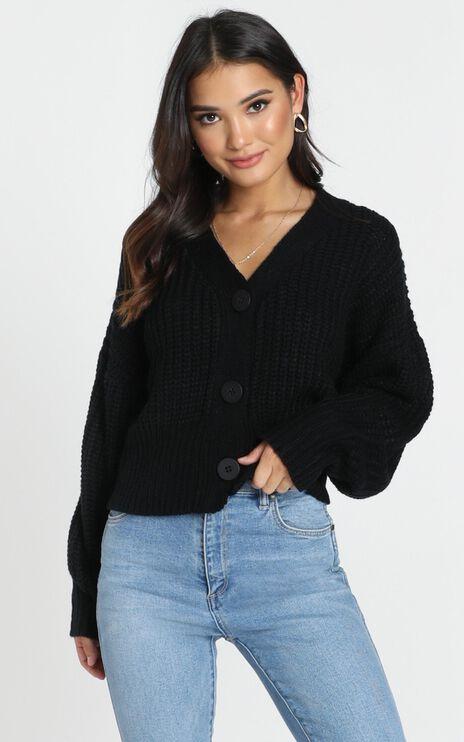 Dakota Knit Cardigan In Black