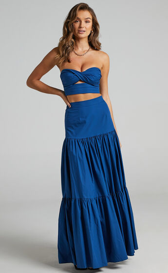 Runaway The Label - Ayla Maxi Skirt in Sapphire