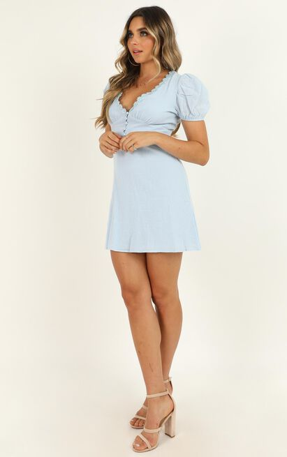Parisian Girl dress in blue - 12 (L), Blue, hi-res image number null