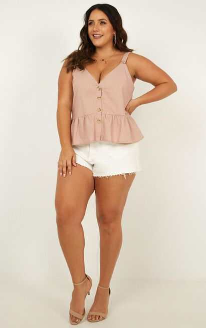 Magic Spell top in blush linen look - 12 (L), Blush, hi-res image number null