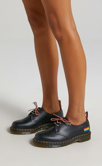 Dr. Martens - 1461 Pride 3 Eye Shoe in Black Smooth