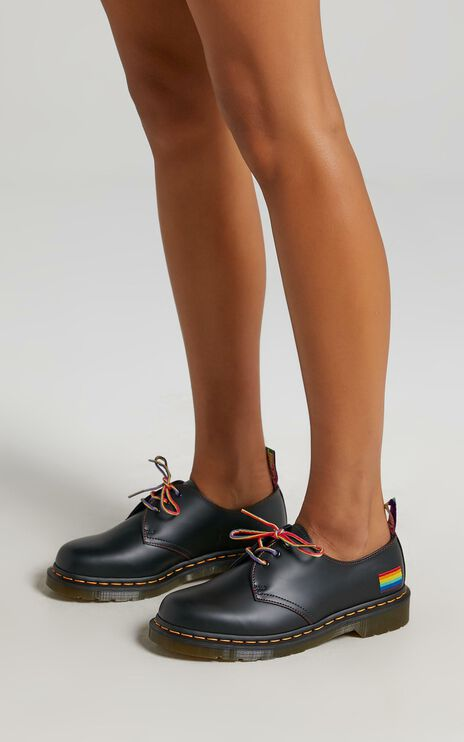 Dr. Martens - 1461 Pride 3 Eye Shoe in Black Smooth