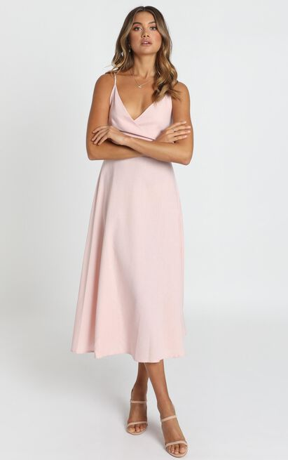 Mustering The Confidence Dress in blush pink - 12 (L), Blush, hi-res image number null