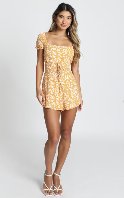 Eye Candy Playsuit in mustard - 20 (XXXXL), Mustard, hi-res image number null