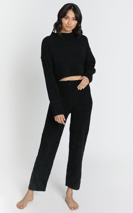 Get Comfy Two Piece Set in Black