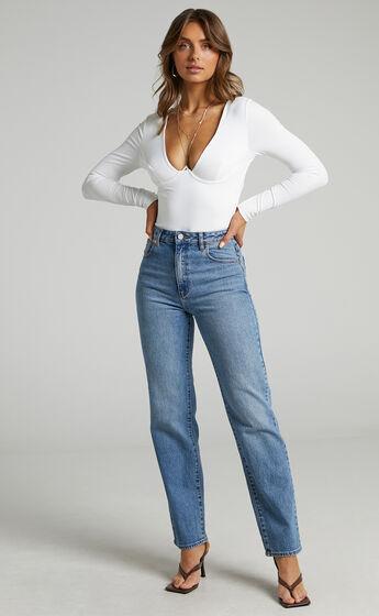 Runaway The Label - Kara Bodysuit in White
