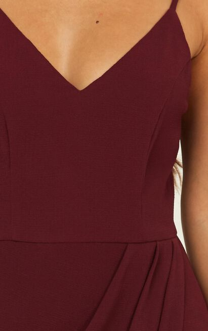Lucky Day maxi dress in wine - 4 (XXS), Wine, hi-res image number null