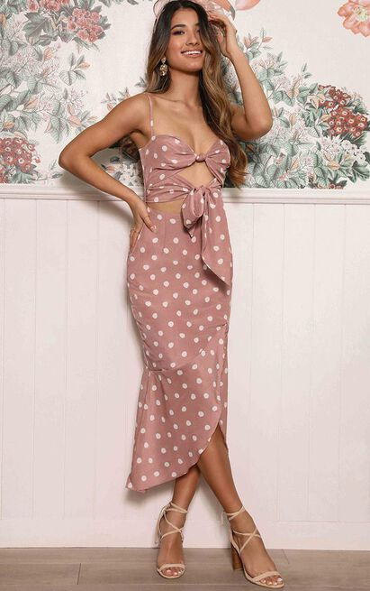 So You Think Youre  Lovely Dress in dusty rose spot - 20 (XXXXL), Blush, hi-res image number null