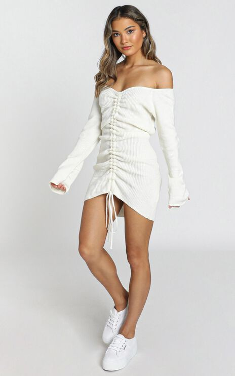 Susie Knit Dress in Cream