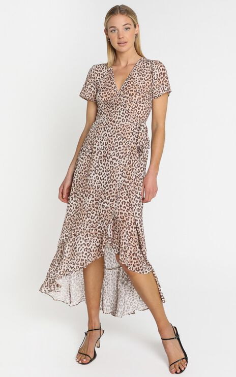 Malika Dress in Leopard Print