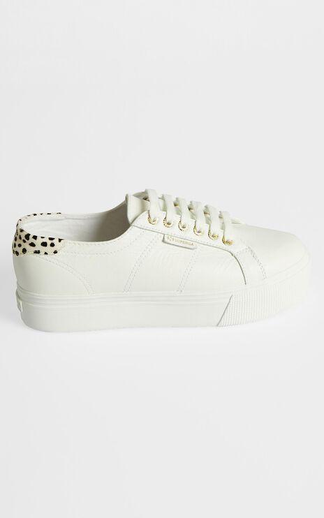 Superga - 2790 GoatNappa Pony Hair Sneakers in White - Dalmation