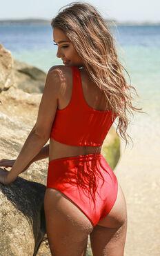 Karmen Bikini Bottom In Poppy