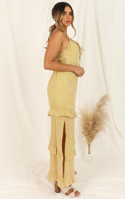 Move To Italy dress in yellow floral - 12 (L), Yellow, hi-res image number null