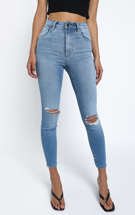 Rollas - Eastcoast Ankle Jean in Ocean Worn