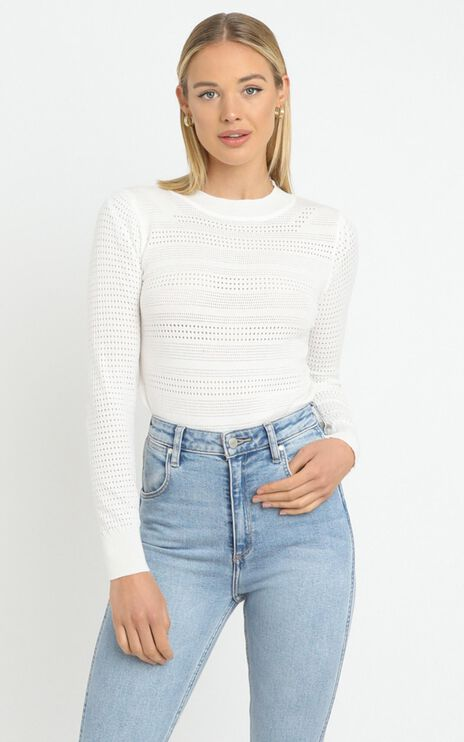 Rowan Knit Top in White