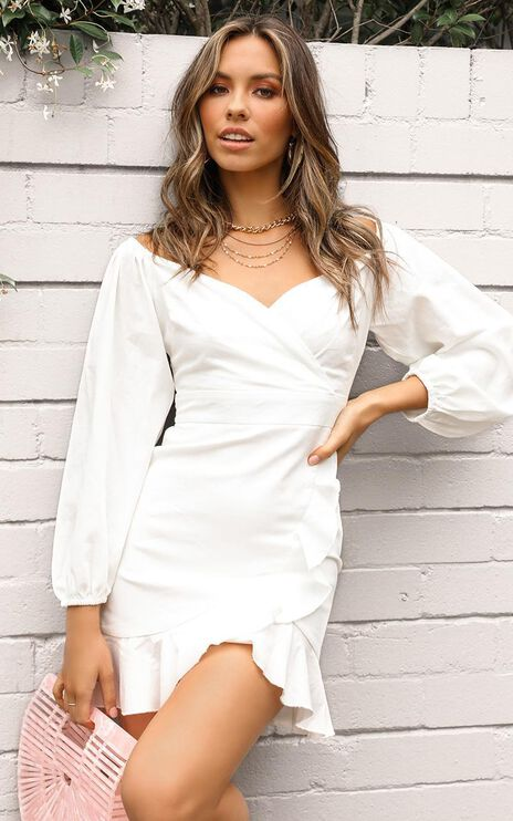 Cant Move On Dress In White Linen Look