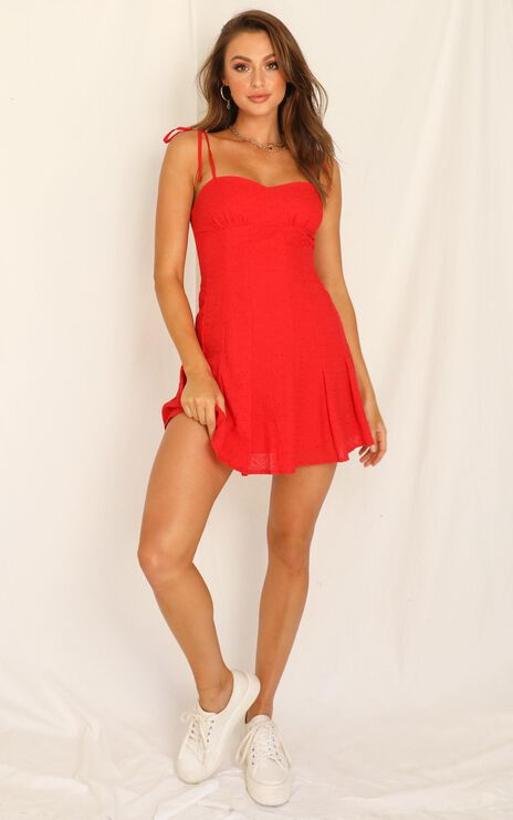 Angels Surround Me Dress In Red