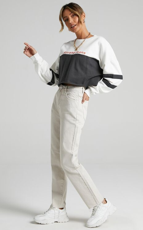 Abrand - A 94 High Slim Jean in Stone