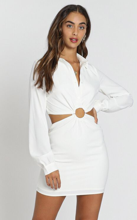 Ebenezer Dress in White