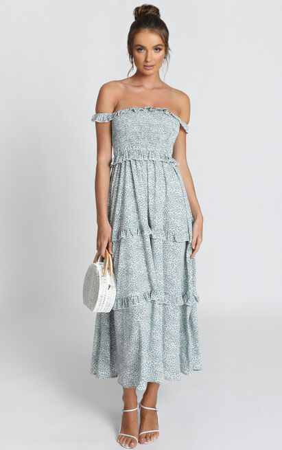 Looking Flawless Maxi Dress in sage floral - 14 (XL), Sage, hi-res image number null