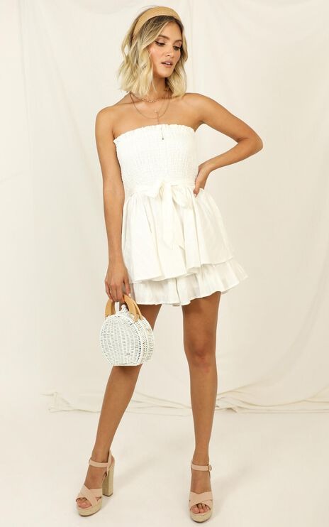 Mutual Love Playsuit in White